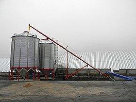 обладнання для післязбиральної обробки та зберігання зерна