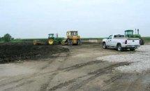 Підготовка майданчику для мобільного зерносховища Юніон Айрон