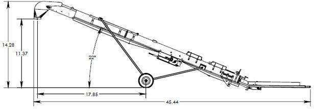 Технічні характеристики моделі Batco 2435 Railcar Unloader